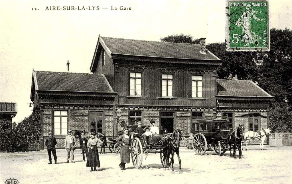 CP gare d'Aire sur la Lys (coté cour)