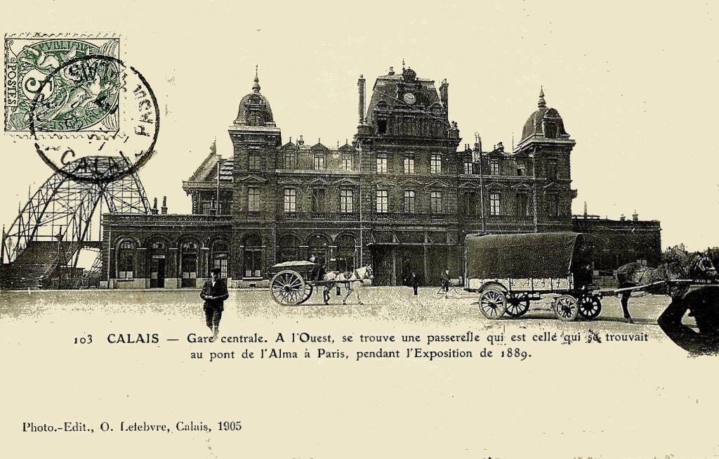 CP gare de Calais (coté cour)