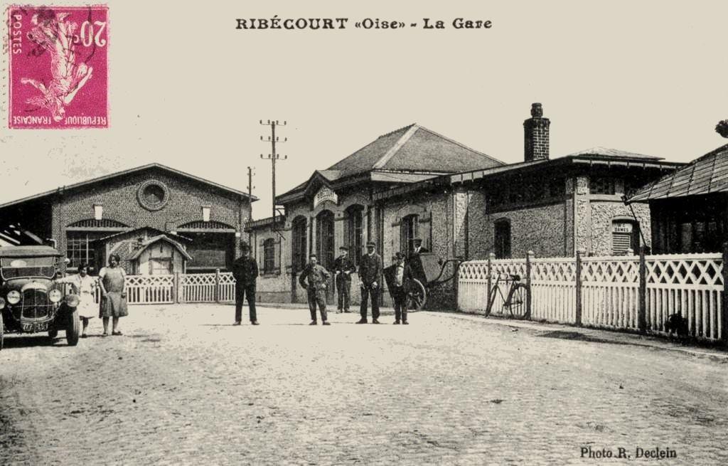 CP gare de Ribecourt (Oise)