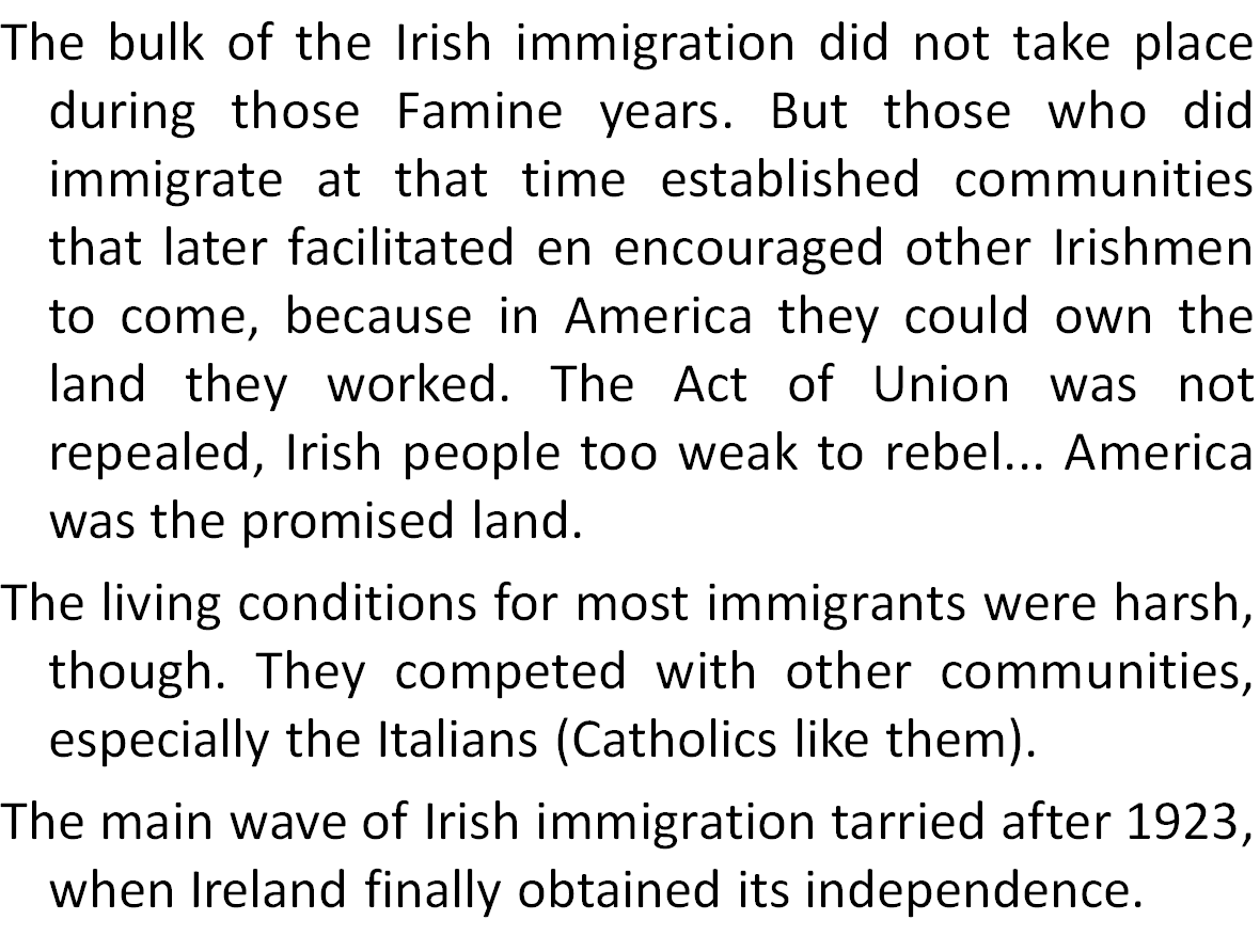 Irish Immigration to the USA