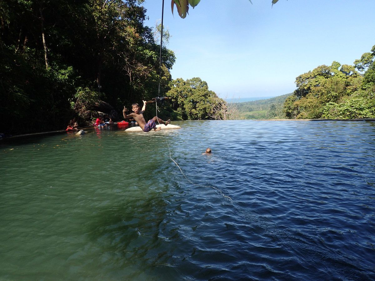 Side-car, waterfalls et cocotiers...