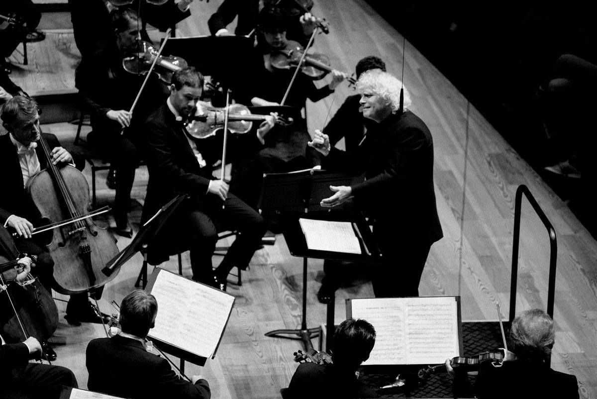 Sir Simon Rattle et le Berliner Philharmoniker - Photographie © Philharmonie de Paris