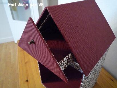 Cartonnage : une jolie maisonnette.....