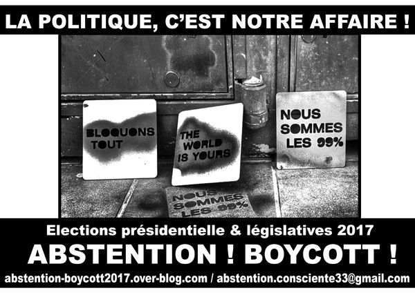 [Bordeaux - Jeu. 20] Réunion collectif Abstention consciente/Boycott 2017