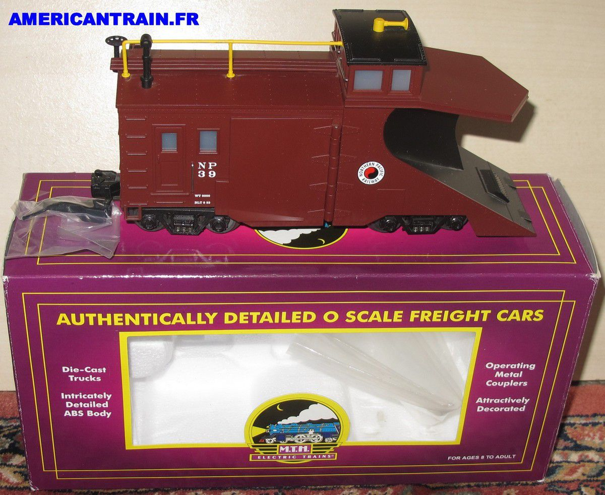 Wagon Snow Plow Northern Pacific 3 rails échelle O MTH