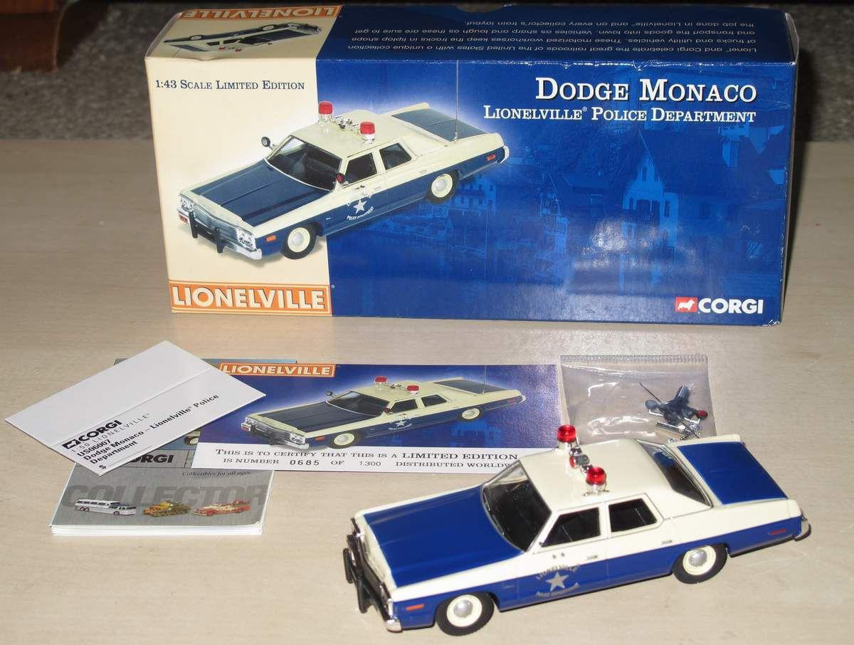 Dodge Monaco Police Lionelville US06007 1/43 Corgi