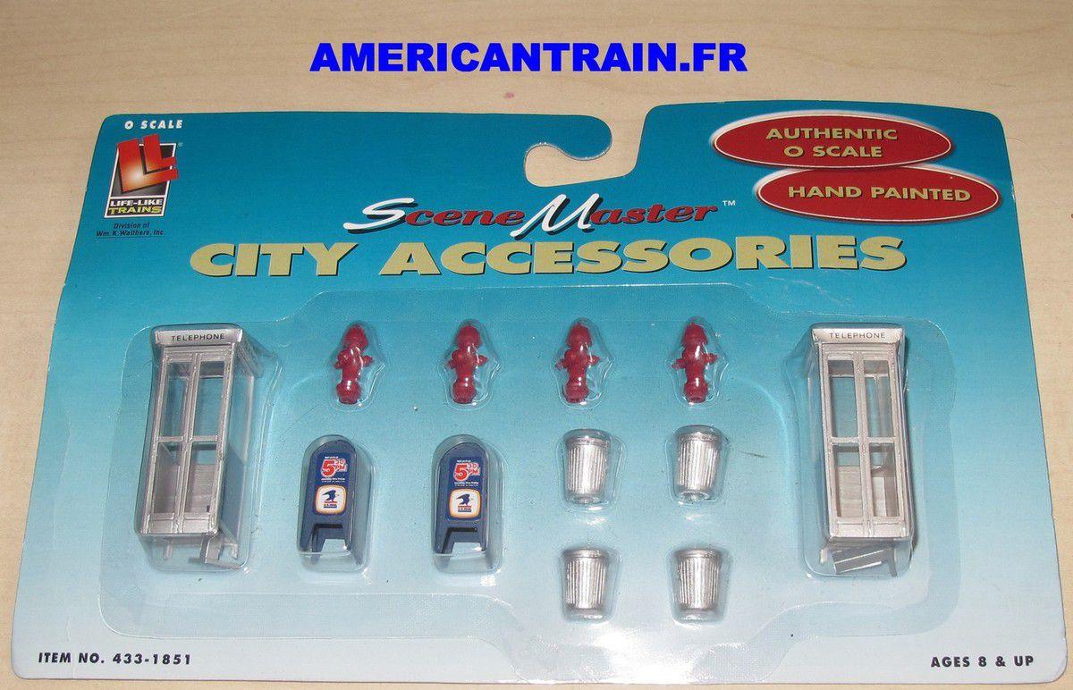 Accessoires de ville 433-1851 échelle O Life-Like