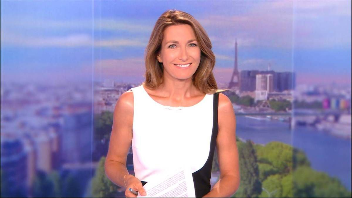 Anne-Claire Coudray JT 13H TF1 27.08.2016
