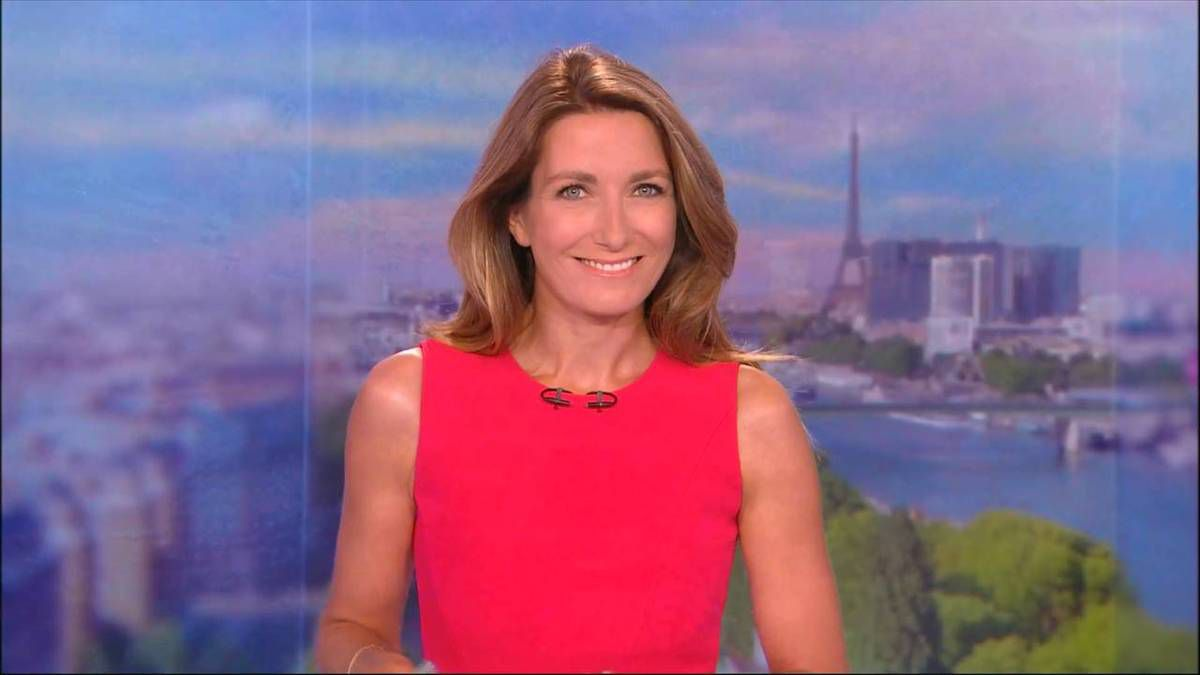 Anne-Claire Coudray JT 20H TF1 27.08.2016