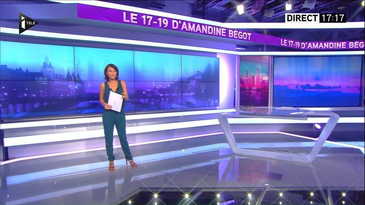 Amandine Bégot Le 17-19 Itélé le 01.09.2016