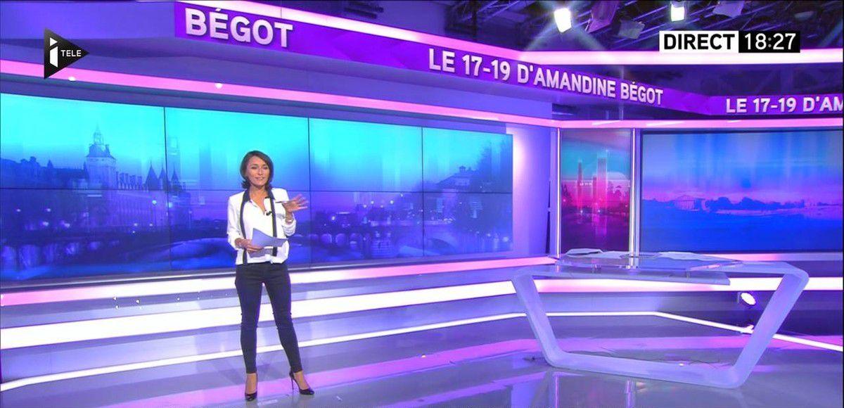 Amandine Bégot Le 17-19 Itélé le 02.09.2016