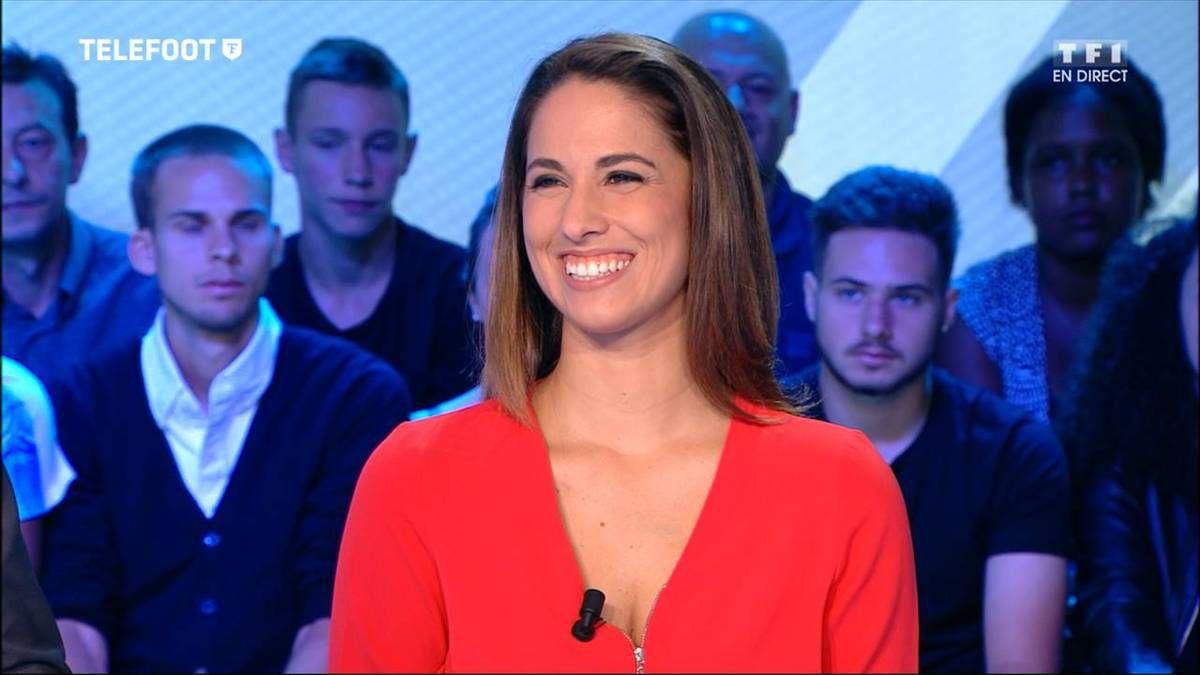 Charlotte Namura Téléfoot TF1 le 04.09.2016