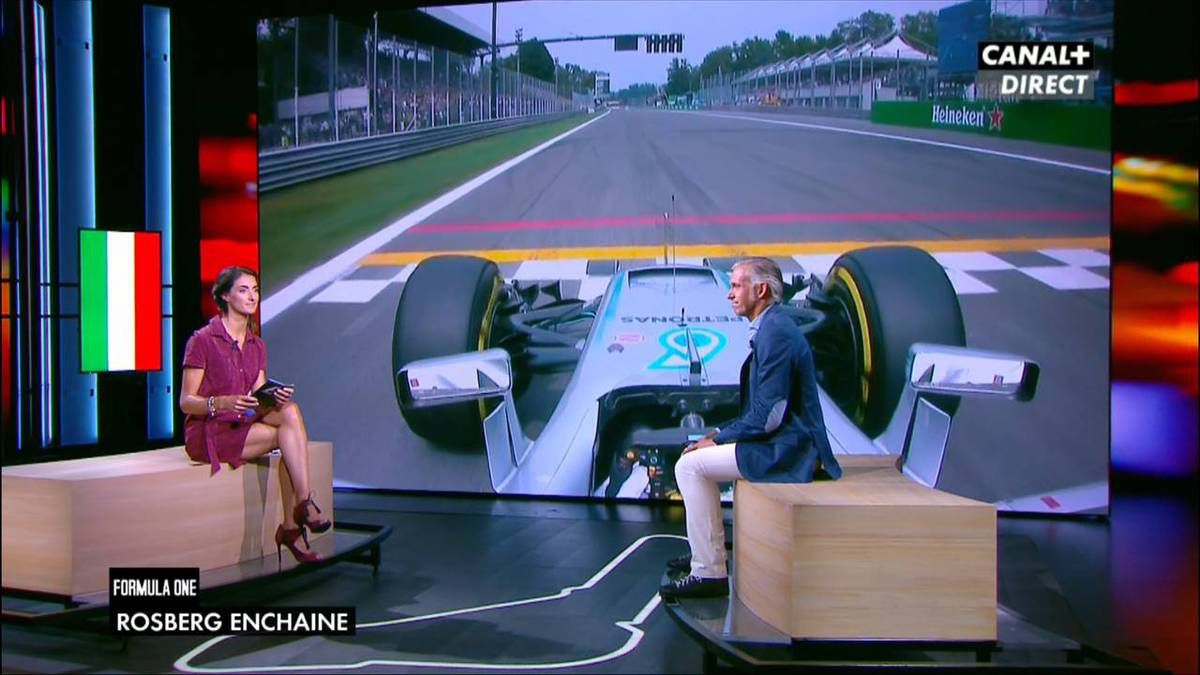 Margot Laffite Formula One Canal + le 04.09.2016