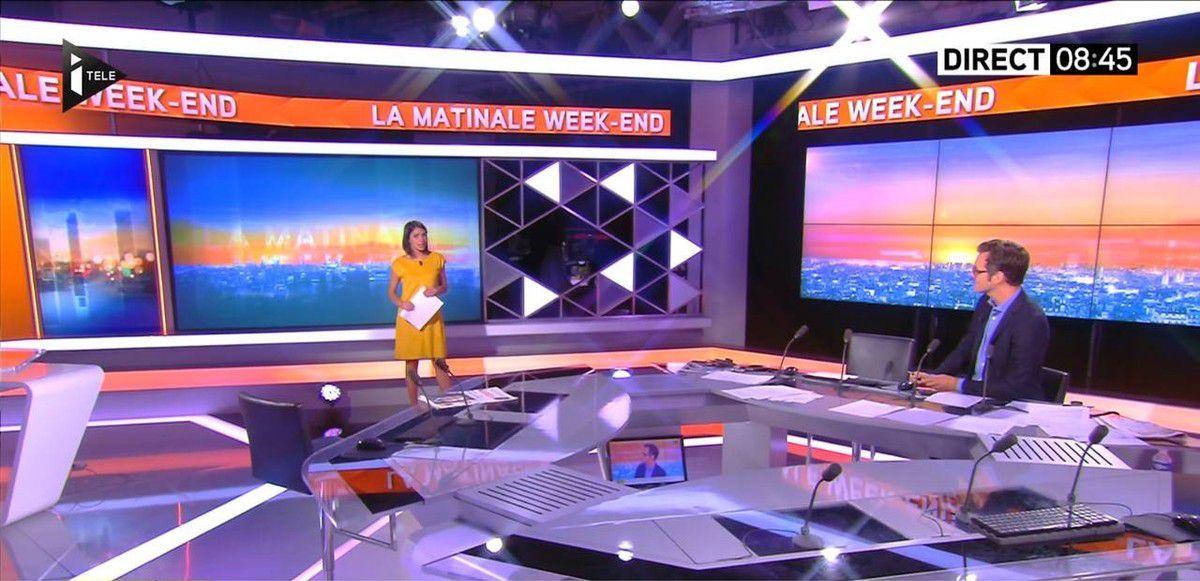 Sonia Chironi La Matinale Week-end Itélé 04.09.2016