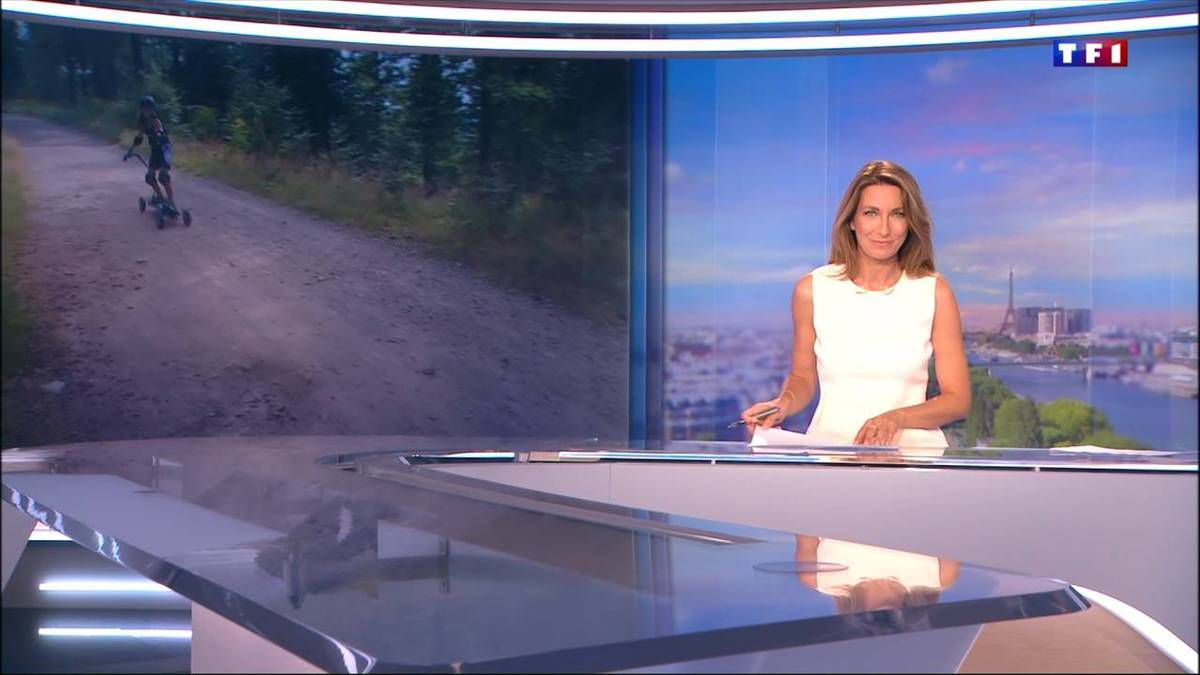 Anne-Claire Coudray JT 13H TF1 04.09.2016