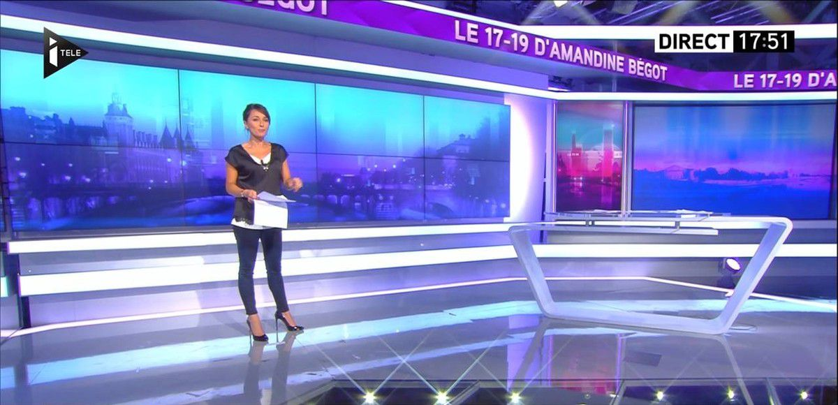 Amandine Bégot Le 17-19 Itélé le 05.09.2016
