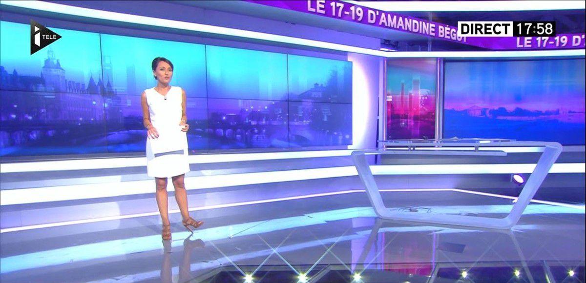 Amandine Bégot Le 17-19 Itélé le 07.09.2016