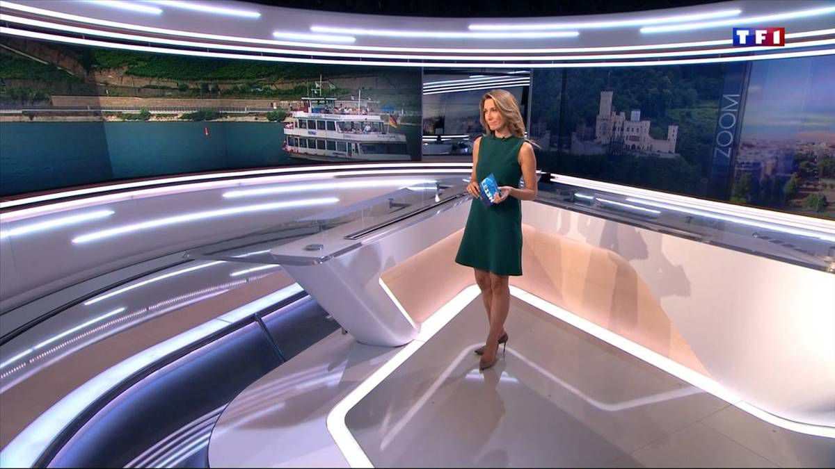 Anne-Claire Coudray JT 13H TF1 11.09.2016