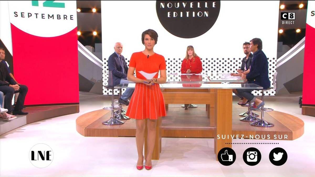 Emilie Besse La Nouvelle Edition C8 le 12.09.2016