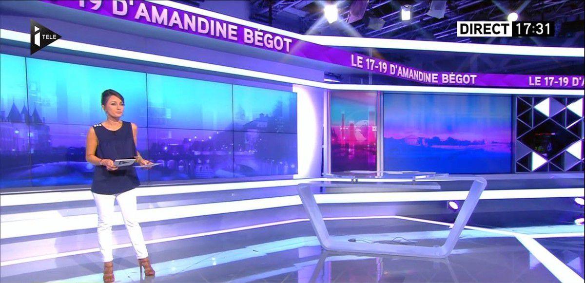 Amandine Bégot Le 17-19 Itélé le 13.09.2016
