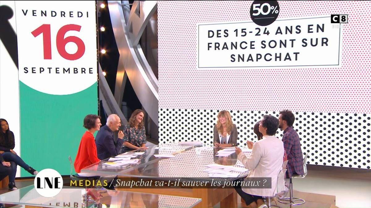 Emilie Besse La Nouvelle Edition C8 le 16.09.2016