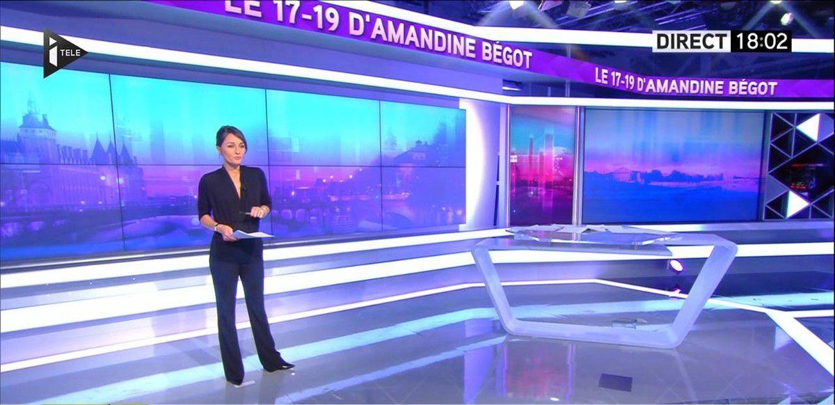 Amandine Bégot Le 17-19 Itélé le 22.09.2016
