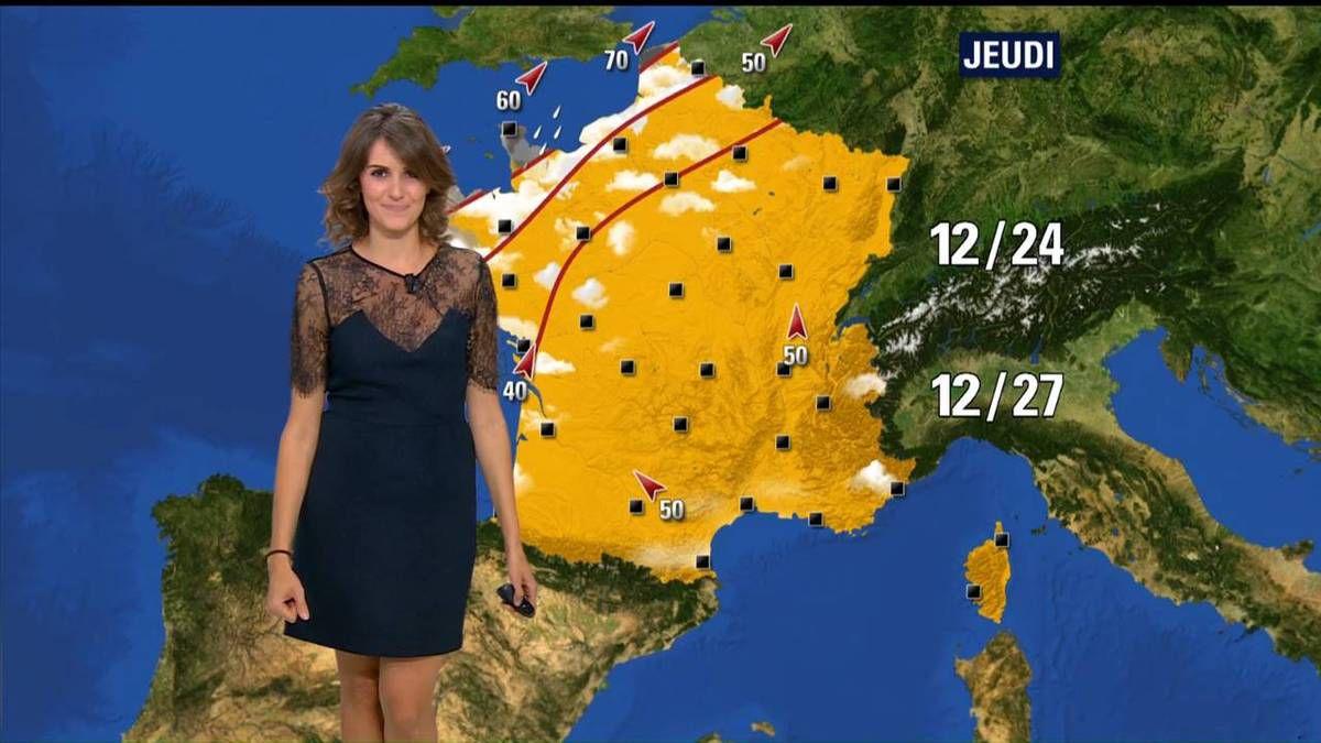 Fanny Agostini Météo BFM TV le 27.09.2016