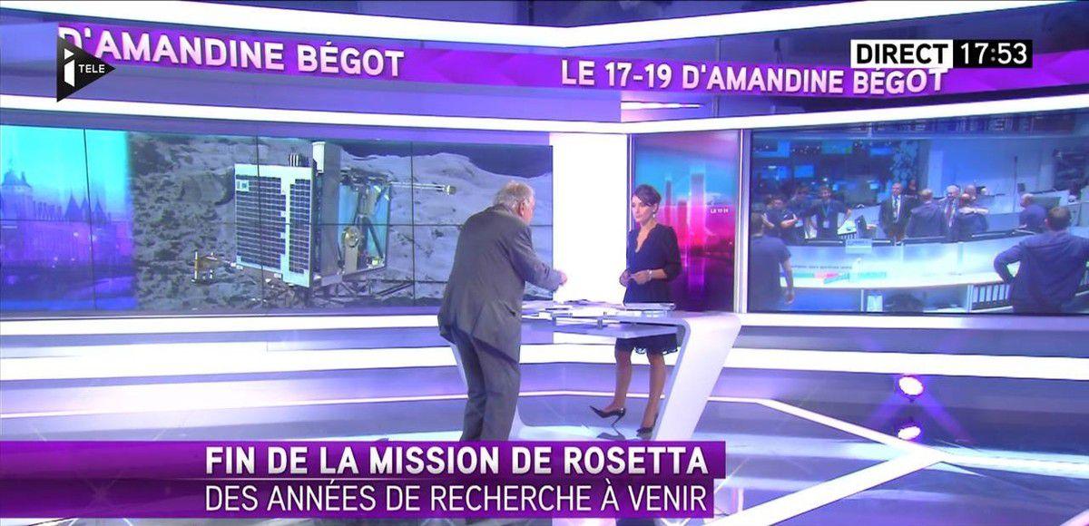 Amandine Bégot Le 17-19 Itélé le 30.09.2016