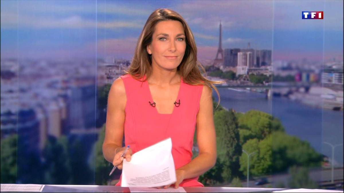 Anne-Claire Coudray JT 13H TF1 02.10.2016