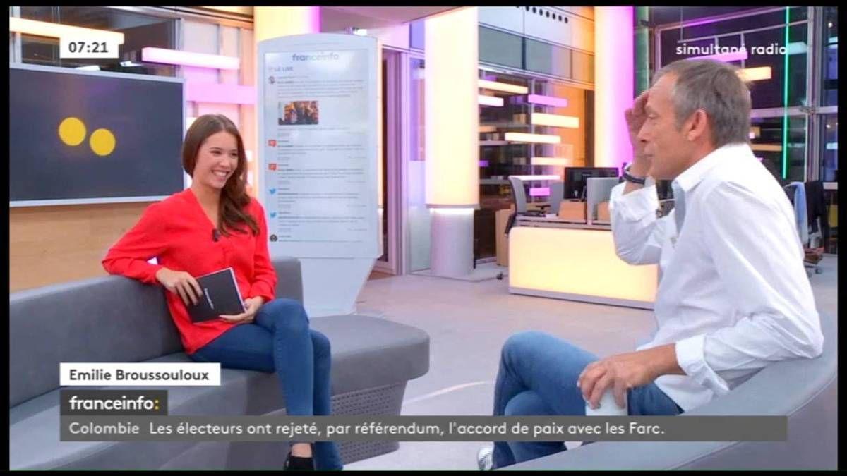 Emilie Broussouloux La Matinale France Info: le 03.10.2016