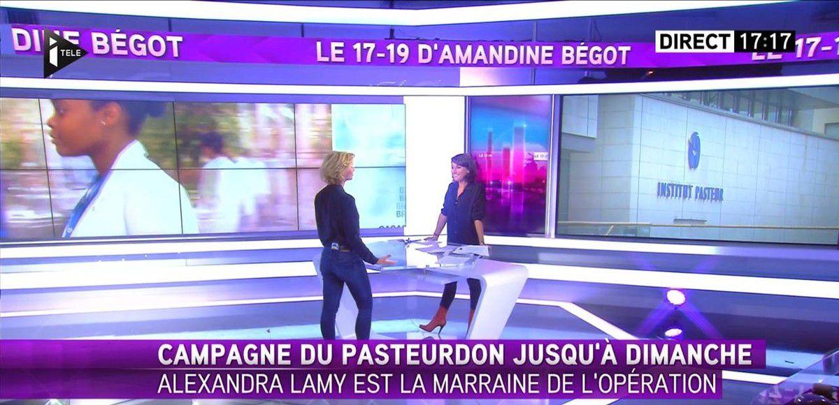 Amandine Bégot Le 17-19 Itélé le 06.10.2016