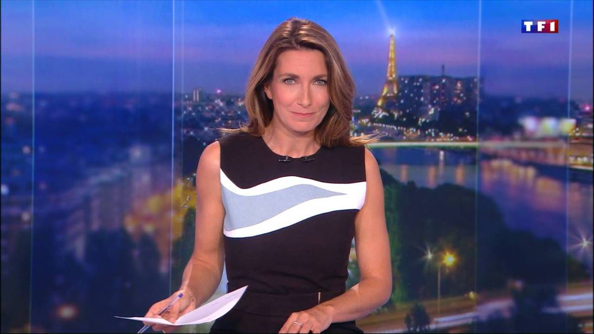 Anne-Claire Coudray JT 20H TF1 08.10.2016