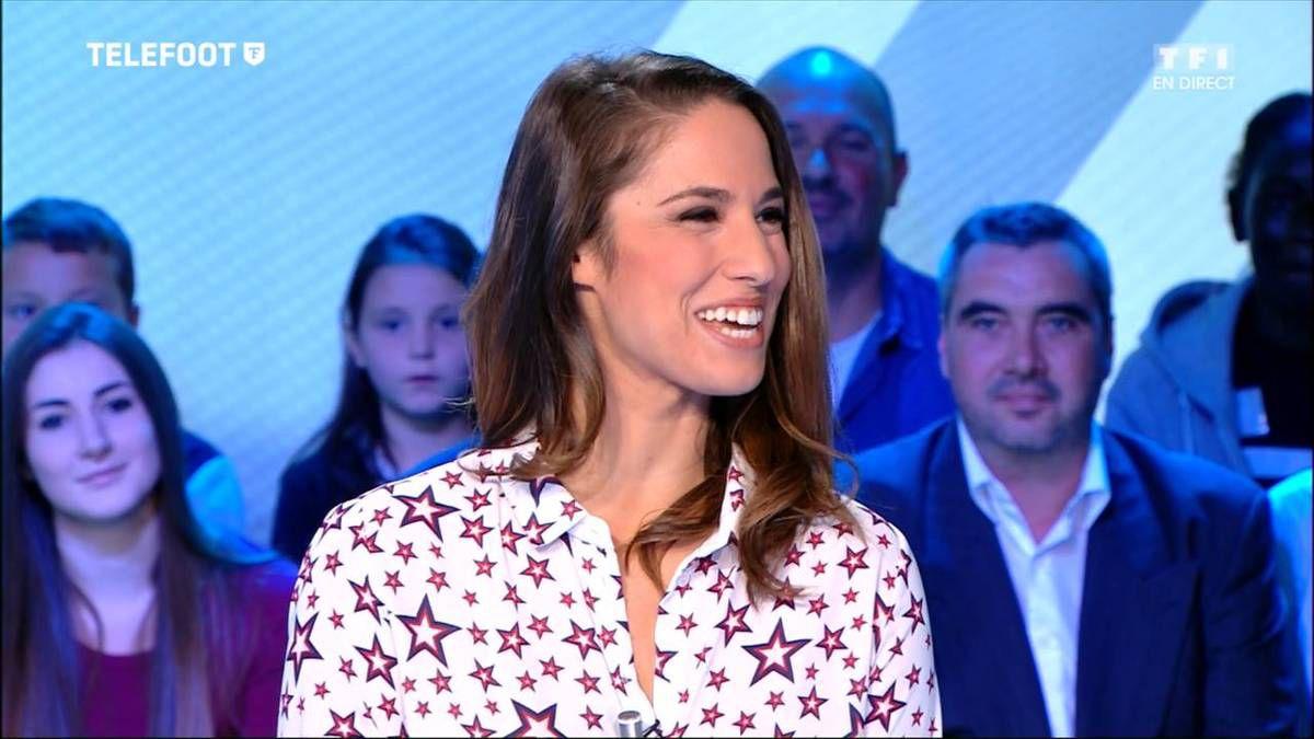 Charlotte Namura Téléfoot TF1 le 09.10.2016