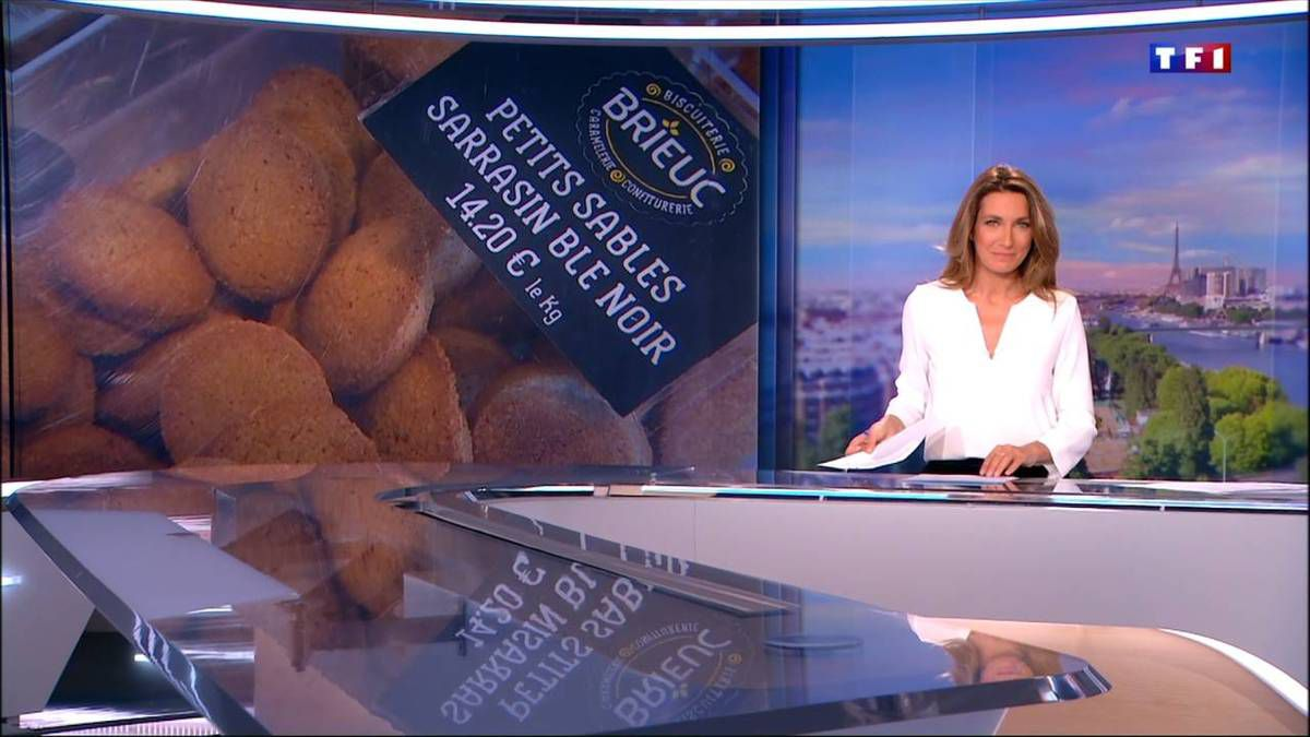 Anne-Claire Coudray JT 20H TF1 09.10.2016