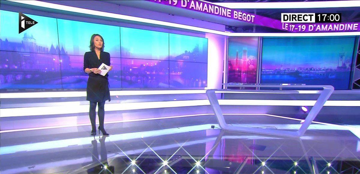 Amandine Bégot Le 17-19 Itélé le13.10.2016