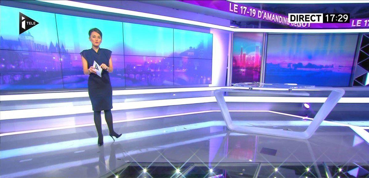 Amandine Bégot Le 17-19 Itélé le 14.10.2016