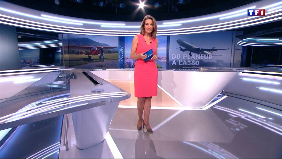 Anne-Claire Coudray JT 13H TF1 le 16.10.2016