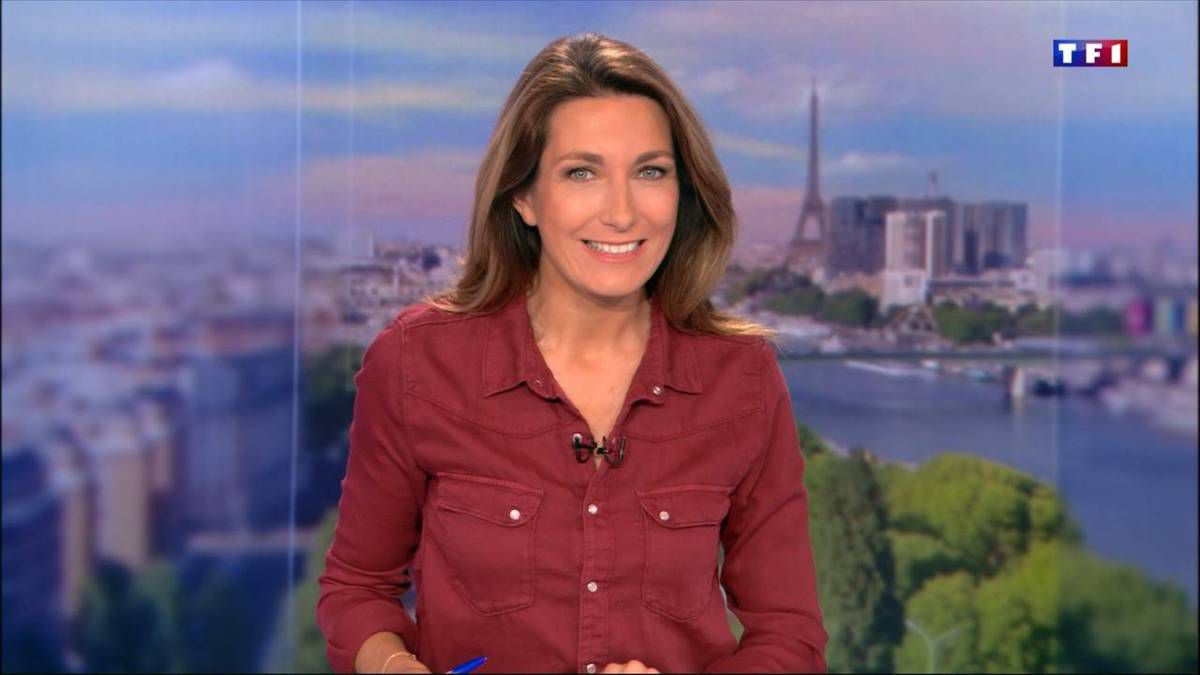 Anne-Claire Coudray JT 13H TF1 le 29.10.2016