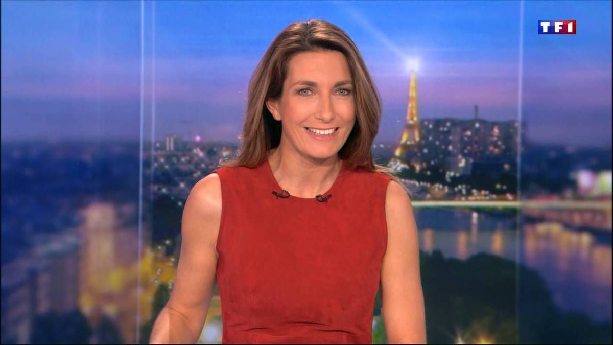Anne-Claire Coudray JT 20H TF1 le 29.10.2016