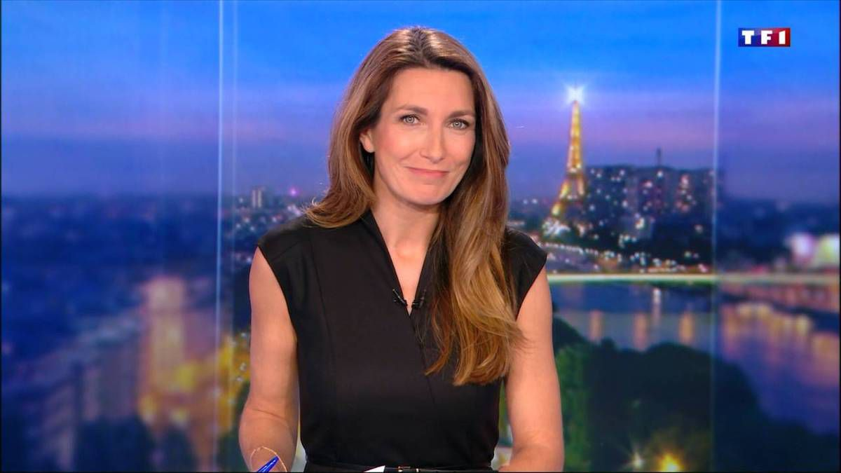 Anne-Claire Coudray JT 20H TF1 le 28.10.2016