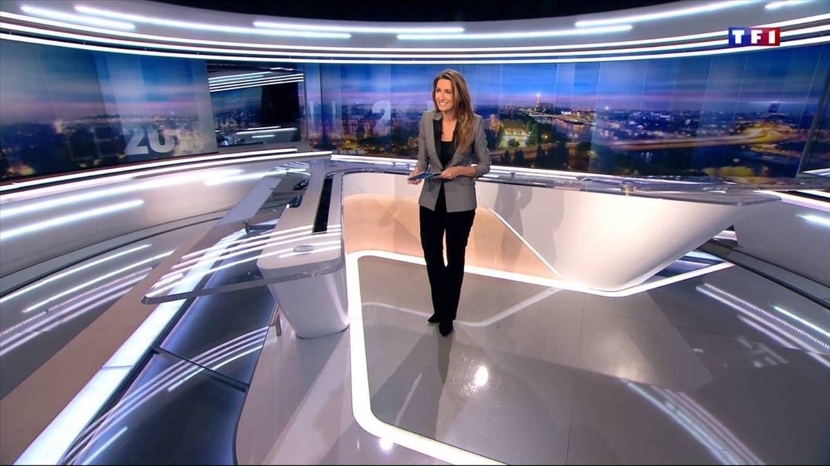 Anne-Claire Coudray JT 20H TF1 le 30.10.2016