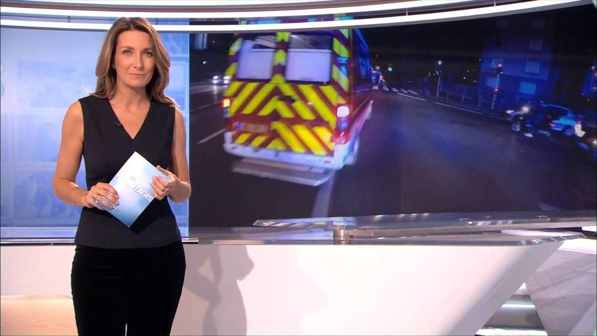 Anne-Claire Coudray JT 13H TF1 le 05.11.2016