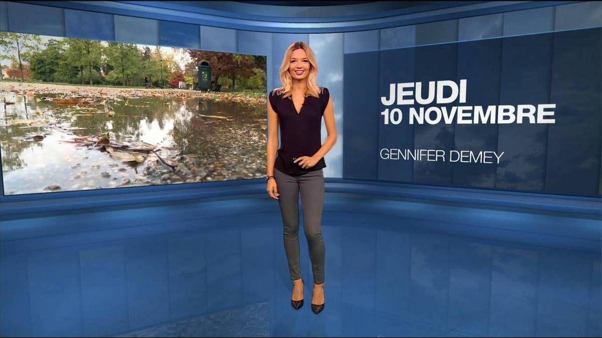 Gennifer Demey Météo M6 le 10.11.2016
