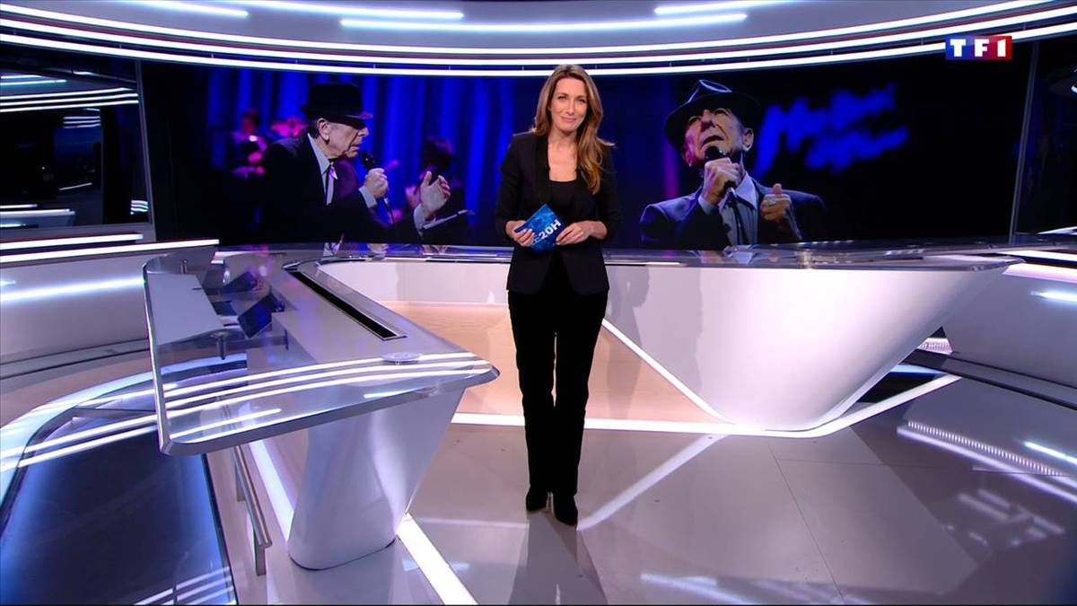 Anne-Claire Coudray JT 20H TF1 le 11.11.2016