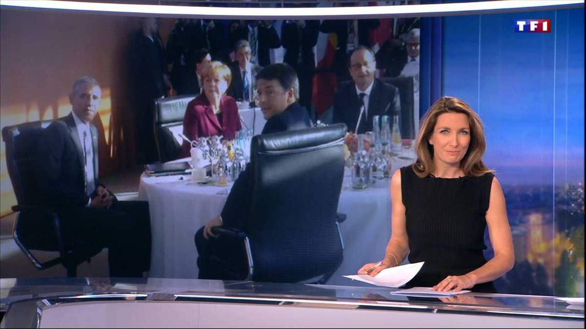 Anne-Claire Coudray JT 20H TF1 le 18.11.2016