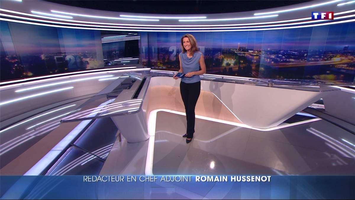 Anne-Claire Coudray JT 20H TF1 le 04.01.2017