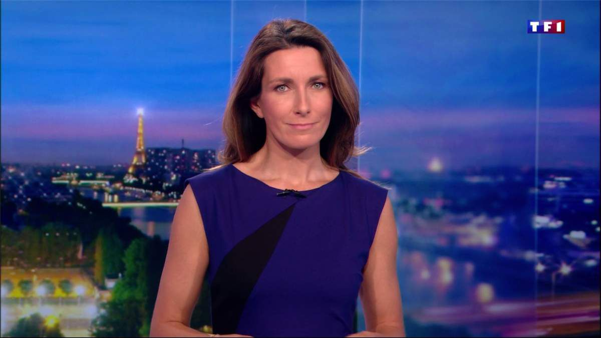 Anne-Claire Coudray JT 20H TF1 le 05.02.2017