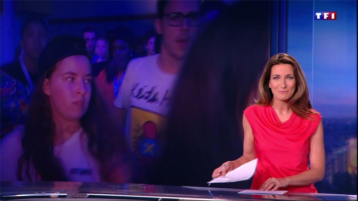 Anne-Claire Coudray JT 20H TF1 le 17.02.2017