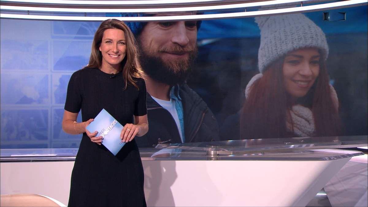 Anne-Claire Coudray JT 13H TF1 le 18.02.2017