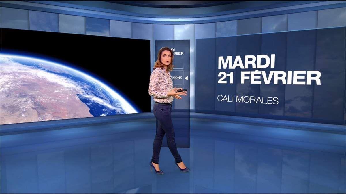 Cali Morales Météo M6 le 21.02.2017
